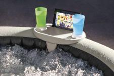 Getränkehalter + Tablett mit LED Licht für Intex Whirlpools Pure