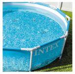 INTEX Swimming Pool Metal Frame Beachsize 305x76cm + Pumpe 28208