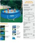 INTEX Swimming Pool EASY SET 457x122 Komplettset 28168 GS