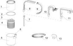 Adapter B für Intex Oberflächenskimmer 11238