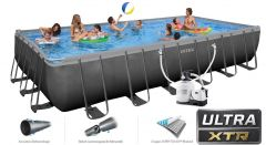 INTEX Ultra XTR Frame Pool 732x366x132 + Salzwasser 26368