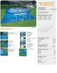 INTEX Swimming Pool Oval-Frame 305x549x107 ECO 28192 GS