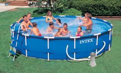 Intex Metal Frame Pool Komplett Set 457x91 ECO 54942 GS