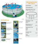 Intex Ultra Frame Pool Komplett-Set 549x132 + Chlorinator 28336
