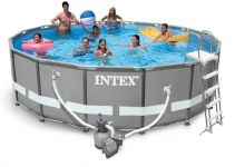Intex Ultra Frame Pool Komplett-Set 488x122 + Sandfilter 26324