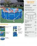 Intex Metal Frame Pool Komplett Set 457x107 ECO Set 28234 GS
