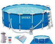 Intex Metal Frame Pool Komplett Set 457x122 ECO-Set 28242 GS