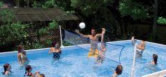 INTEX Swimming Pool Ultra-Frame MegaSet 975x488x132 + Salzwasser