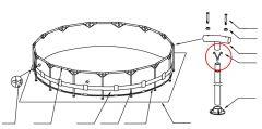 2x V-förmiger Clip für Metal Frame Pools 12-10313