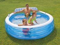 Intex Schwimm Center Family Lounge Pool mit Sitzbank 57190