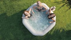 Whirlpool Intex Jet + Bubble Deluxe Kalkschutz + Salzwasser  B-W