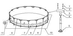 2x Stifte (F) für Metal Frame Pools 12-10312
