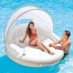 INTEX Badeinsel Lounge Canopy Island mit Sonnendach 58292