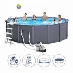 Intex Graphite Panel Pool 478x124cm +Sandfilter 26384