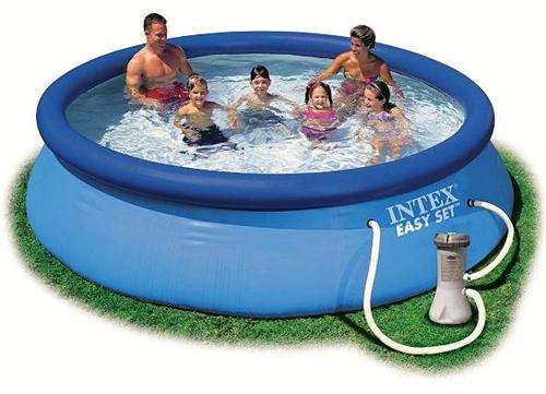 Intex swimming pool easy set 366x76cm 56422gs for Swimming pool set angebot