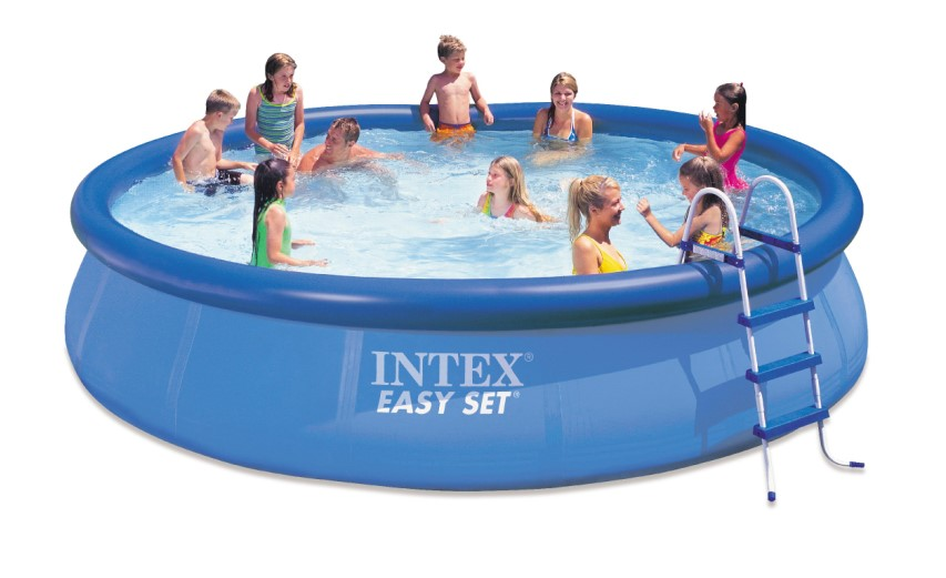 intex swimming pool easy set 457x107 komplettset 28166. Black Bedroom Furniture Sets. Home Design Ideas