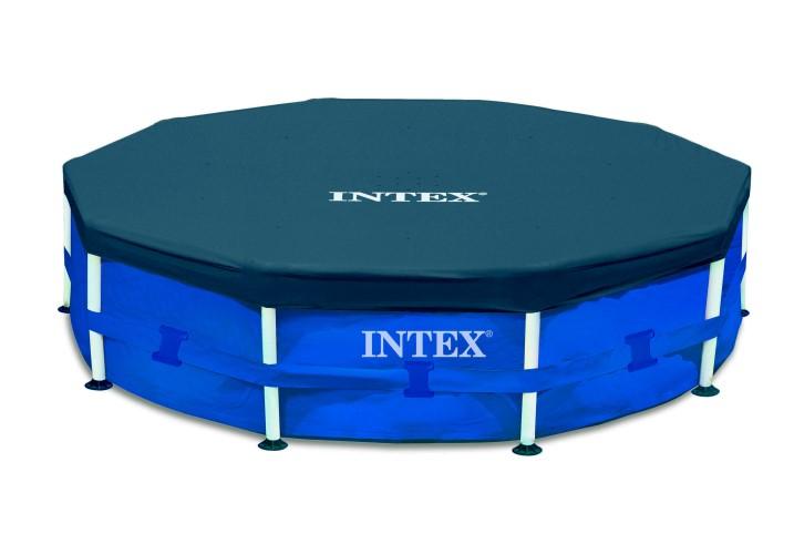 Intex abdeckplane 457cm f r metal frame pool 28032 for Piscina estructural intex