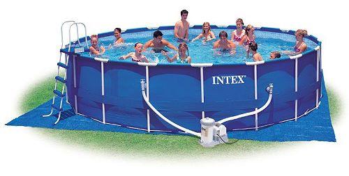 intex metal frame pool komplett set 549 x 122 28252. Black Bedroom Furniture Sets. Home Design Ideas