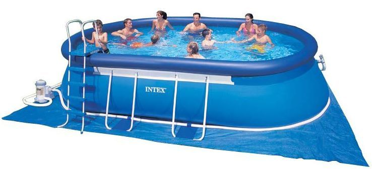 intex swimming pool oval frame 366x610x122 eco 28194 gs. Black Bedroom Furniture Sets. Home Design Ideas