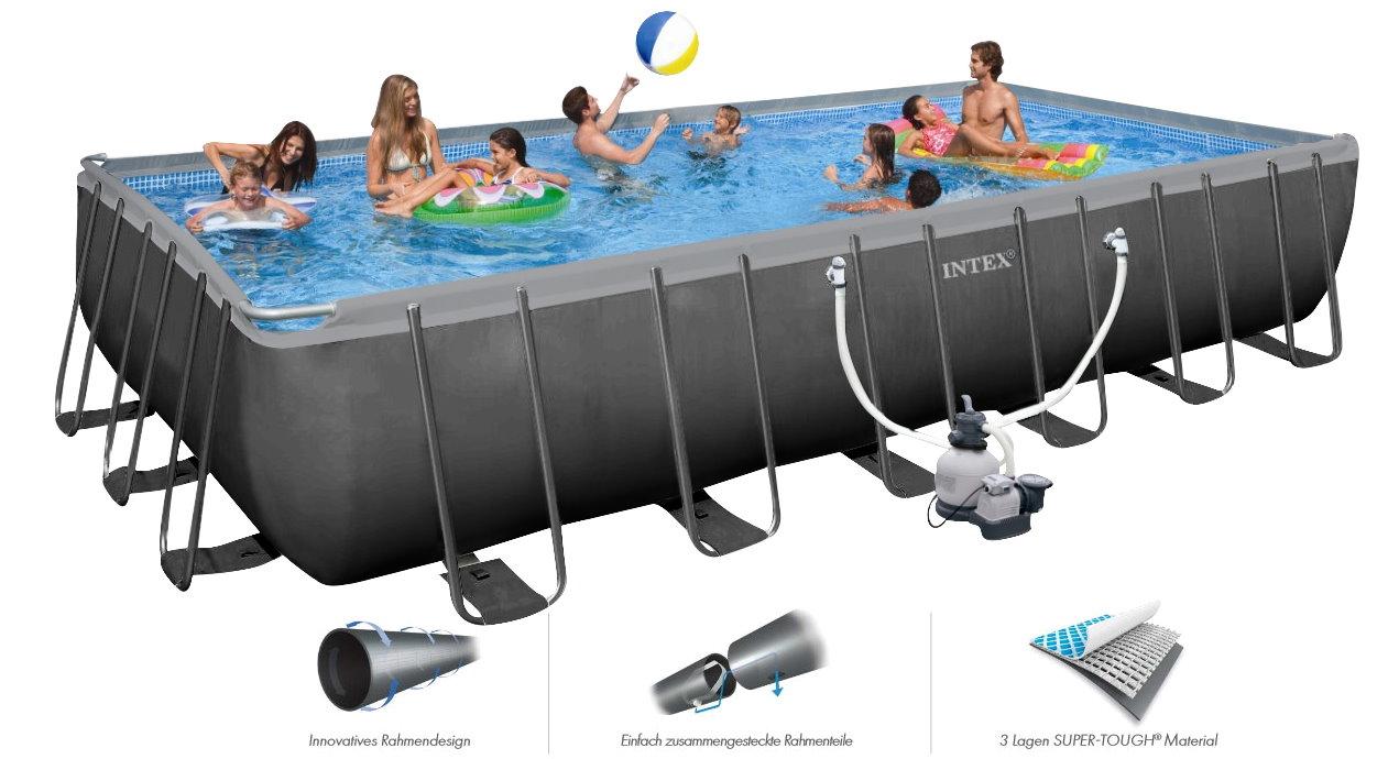 Pool Schwimmbecken 732x366x132 Komplettset Schwimmbad Swimmingpool Poolpumpe