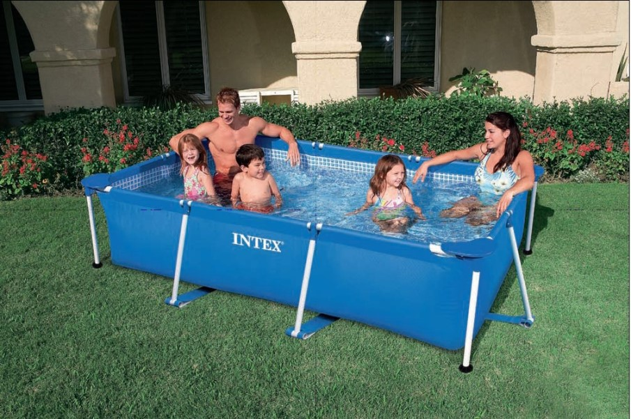 Intex swimming pool family frame 300x200x75cm 28272 for Ideas para piscinas intex