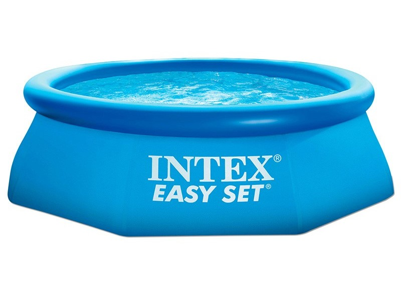 Intex easy set quick up pool 244x76 cm ohne pumpe 28110 for Garten pool ohne pumpe