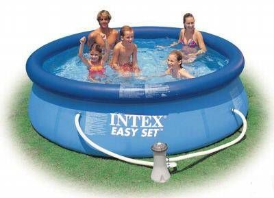 intex easy set quick up pool 305x76 cm poolfolie. Black Bedroom Furniture Sets. Home Design Ideas