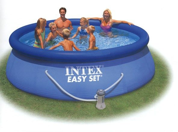 Intex easy set quick up pool 366x76 cm poolfolie for Pool ersatzfolie rund
