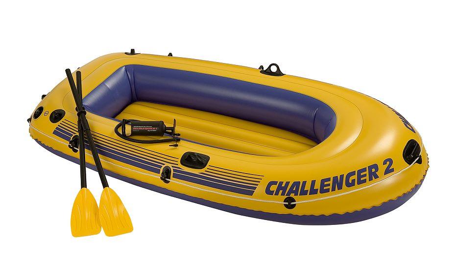 intex schlauchboot challenger 2 set 68367. Black Bedroom Furniture Sets. Home Design Ideas