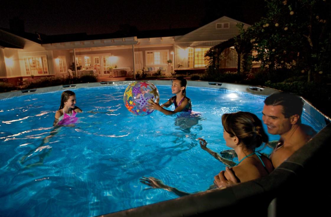 neuheit intex magnet led pool beleuchtung 56688. Black Bedroom Furniture Sets. Home Design Ideas
