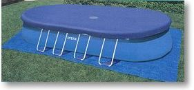 Abdeckplane oval für Pool 549x366 cm Frame Pool Quick Up Poolplane Poolabdeckung