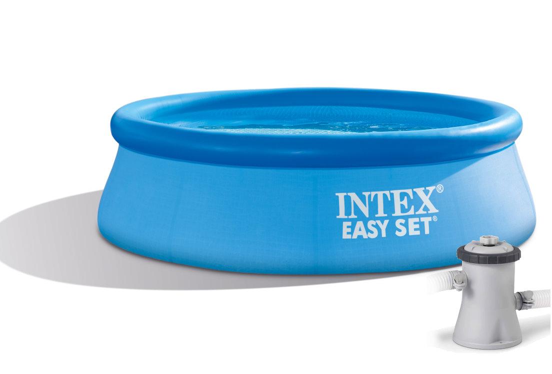 intex easy set quick up pool 244x76 mit pumpe 28112gn. Black Bedroom Furniture Sets. Home Design Ideas