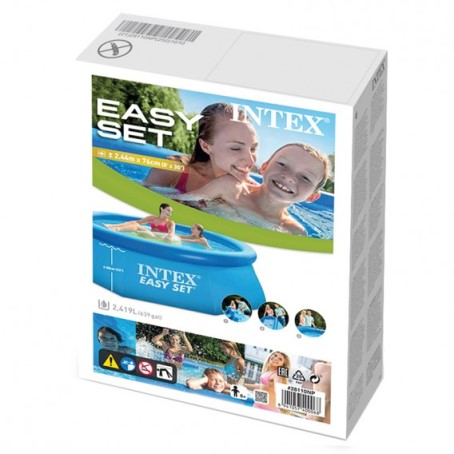 Intex easy set quick up pool 244x76 mit pumpe 28112gn for Quick up pool oval