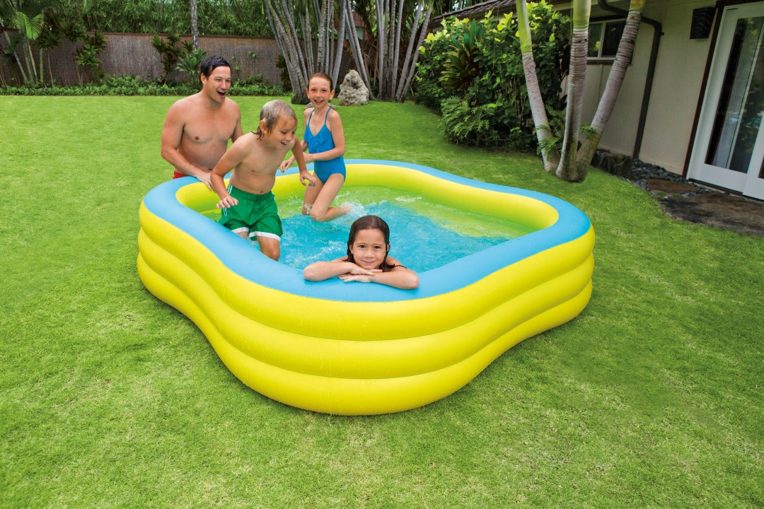 Intex schwimm center family pool 57495 for Zwembad vierkant intex