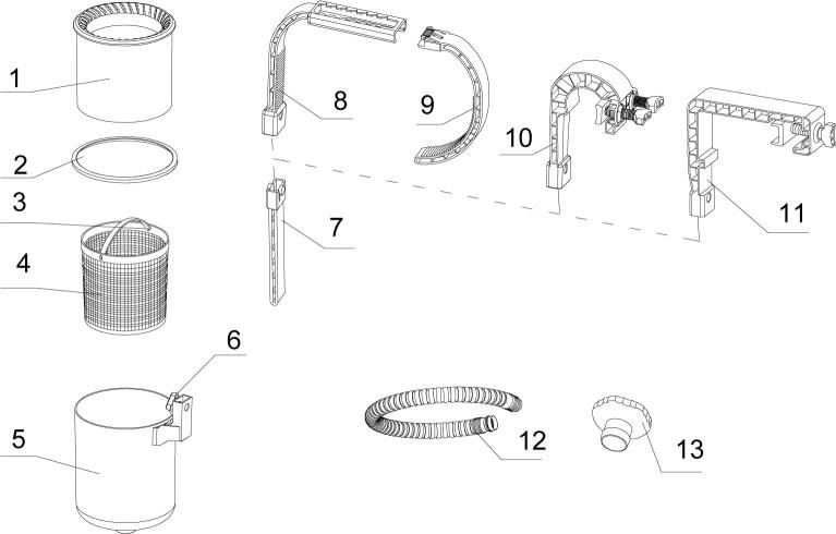 Arm + Halter Haltebügel für Intex Oberflächenskimmer an Easy Set