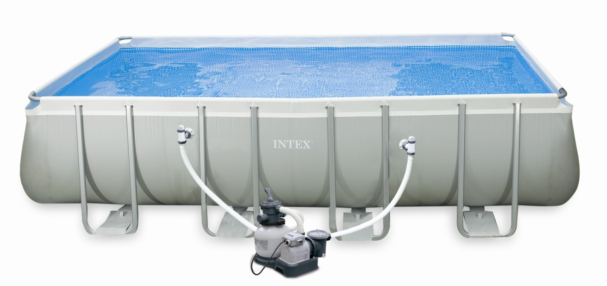 Intex swimming pool ultra frame 549x274x132 cm 26352 for Pool 457x122 mit sandfilteranlage