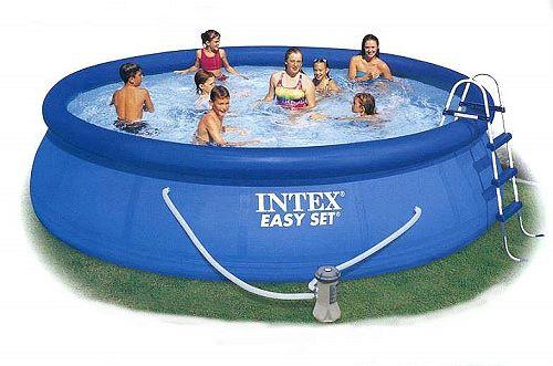 intex swimming pool easy set 457x91 set eco 54914 gs. Black Bedroom Furniture Sets. Home Design Ideas
