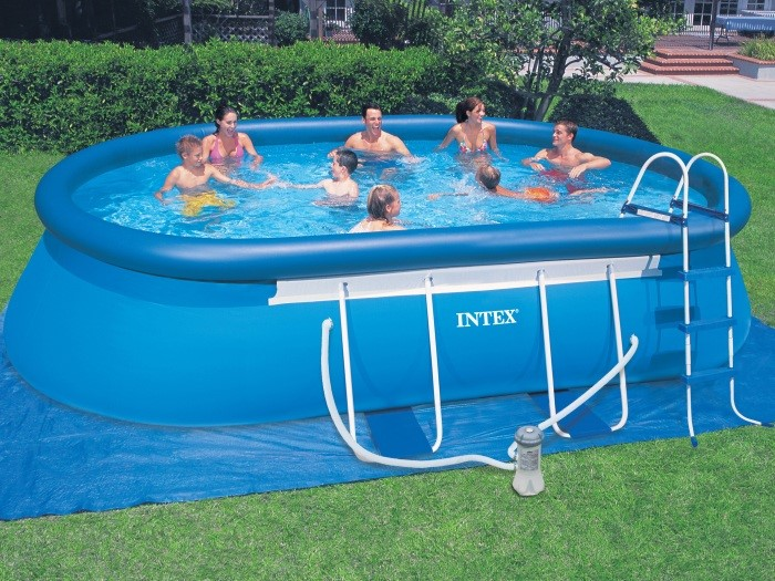 intex swimming pool oval frame 305x549x107 eco 28192 gs. Black Bedroom Furniture Sets. Home Design Ideas