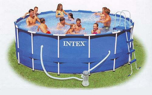 intex metal frame pool komplett set 457x122 eco set 28236 gs. Black Bedroom Furniture Sets. Home Design Ideas