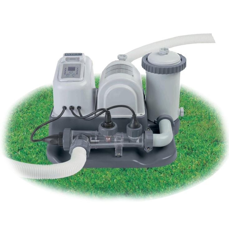 intex chlorinator 4500 l h pumpe salzwassersystem 28674. Black Bedroom Furniture Sets. Home Design Ideas