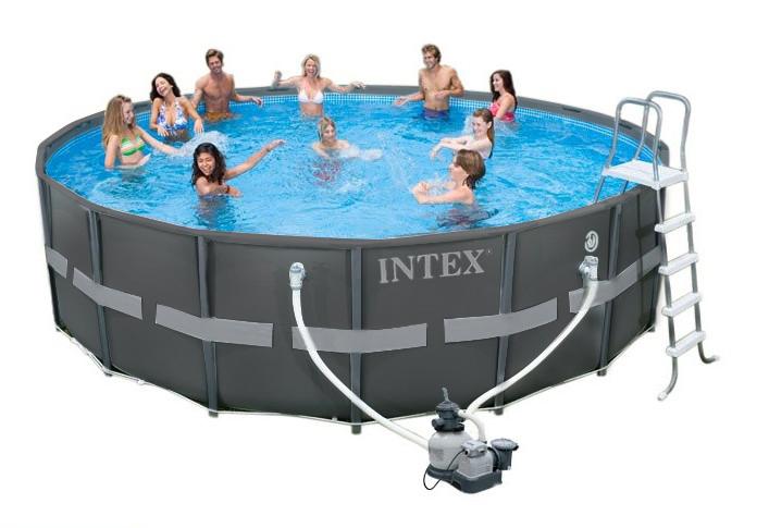 Intex ultra metal frame pool set 488x122 28322 gs for Aufstellpool verkleiden