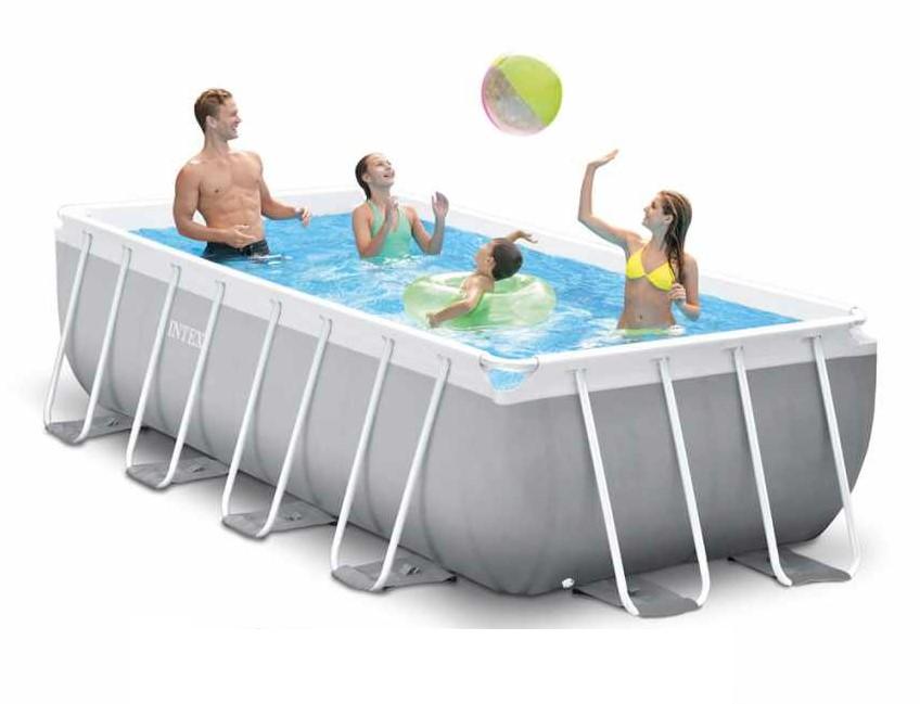 intex prism frame pool 400x200x100 26776. Black Bedroom Furniture Sets. Home Design Ideas