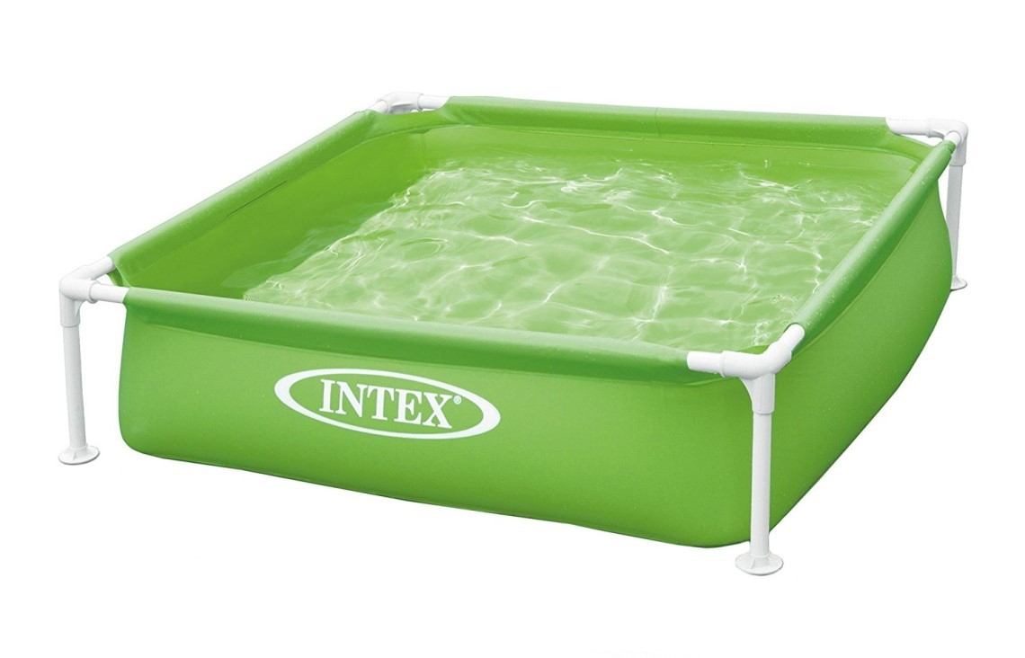 intex mini frame pool 122x122x30cm gr n 57172. Black Bedroom Furniture Sets. Home Design Ideas