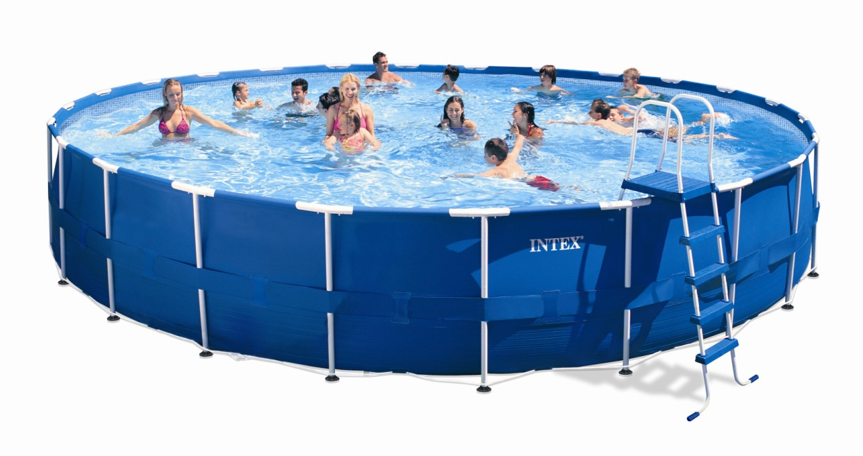 Intex metal frame pool komplett set 732 x 132 28262 gs for Komplett pool
