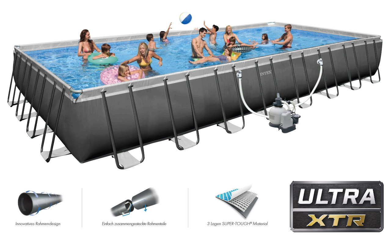 Intex swimming pool ultra frame megaset 975x488x132 salzwasser - Pool salzwasser ...