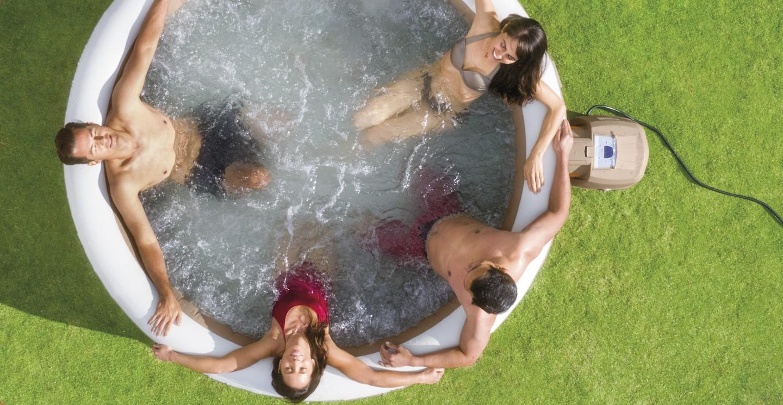 whirlpool purespa intex spa bubble therapy kalkschutz 28404. Black Bedroom Furniture Sets. Home Design Ideas
