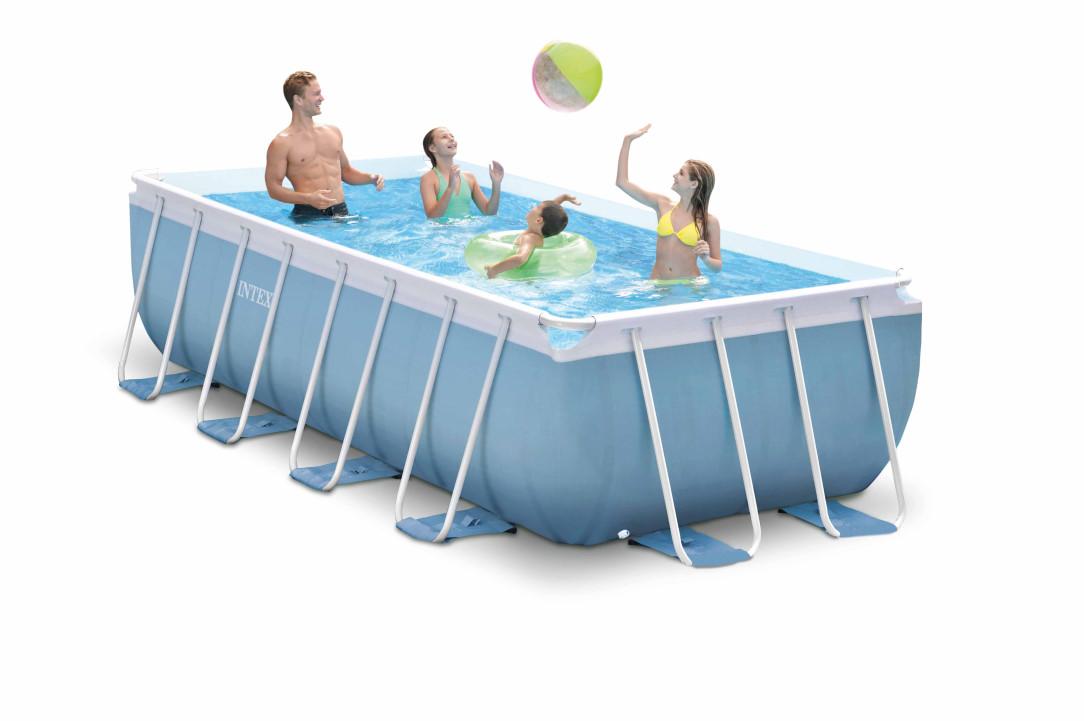 intex prism frame pool 488x244x107 26778. Black Bedroom Furniture Sets. Home Design Ideas