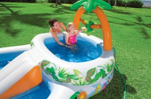 Jungle Playcenter mit Rutsche und Palme Intex 57467