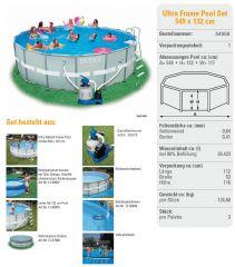 intex ultra frame pool komplett set 549x132 chlorinator 28336. Black Bedroom Furniture Sets. Home Design Ideas