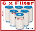 6 x INTEX FILTER A für Filterpumpe 59900 / 29000